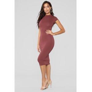 NWT Fashion Nova JoJo Red Brown Dress